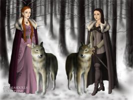 Game of Thrones: Stark sisters by moonprincess22