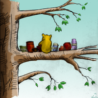 Hunny Tree Colored... by Laural0u