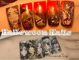 Halloween nail art-  Mesi nail art  tutorial on yt by MesiaszCiszy