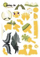 Daring Do Papercraft Pattern by Kna