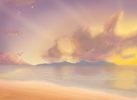 Evening sky by Master-sweez