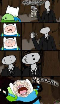 Adventure Time with Slender Man by liquidocelot96