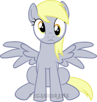 Sitting Derp by PegasisDraws