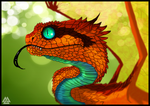 Atheris draconis by Javen