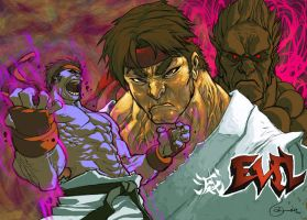 EVIL_RYU by scabrouspencil
