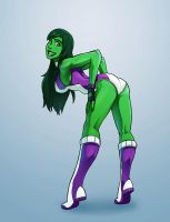 She-Hulk's big green booty by mastermead