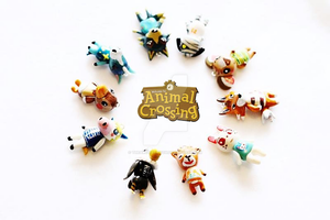 Custom Animal Crossing: New Leaf Charms by thearctisticfox