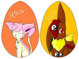 Eggs Mika and Selda by TwilightTheEevee