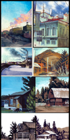 LEFTOVERS: Landscapes by Ink-Yami