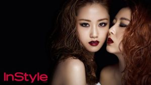 Gayoon and Sohyun 4minute - InStyle by LuannaMaria