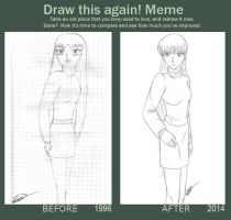 Meme Before and After Blanco y Negro by Ixcuinan