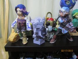 Armos papercraft (+ fierce deity link and kafei!) by Odolwa5432