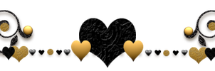 Audra's Gold And Black  Heart Divider by AudraMBlackburnsArt