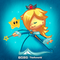 Huevember 22 - Rosalina and Luma by Thiefoworld