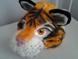 Fursuit Tiger head by Tigerrwar