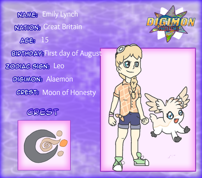 Digimon Protectors - Emily and Alaemon by tinttiyo