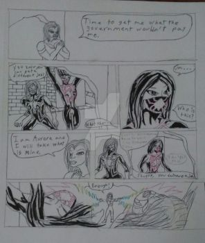 Aracnida and She-Black Spider teamup pg.2 wip by SpiderSilk15