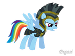 Raindow Dash with Armor-Commander Hurricane Vector by Pegasi-pony