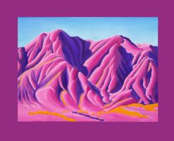 Pink and Purple Mountain by kennethkorb