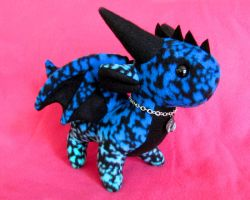 Dragon Plushie - Blue and Aqua by DragonsAndBeasties