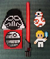 Star Wars mix bead art by isaletheia
