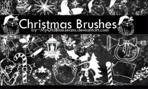 Christmas Vector Brushes by MyOldBlueJeans