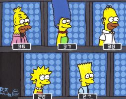 The Simpsons on 1 vs 100 by DJgames