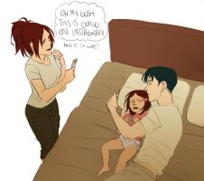 Daddy Levi is a snuggler apparently by Jazzie560