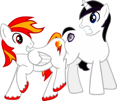 Vector Flame and Barrfind butt hello by Barrfind