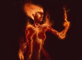 Fire Elemental by Vij-8