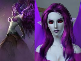 The Sims3 vs. League of Legends: Morgana by chiko-san