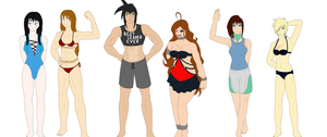 Z-P: The Harmony's Swimsuit Parade by Helios-No-Jinn