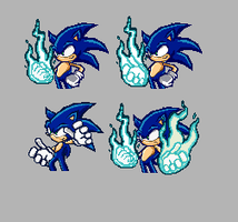3 Sonic Flame Pixel Arts by ToXic-rZ