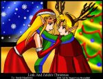 Link and Zelda's christmas by SigurdHosenfeld