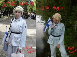 Before-After Finland cosplay! by Reka-de-Kovacs