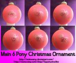 Main Six Pony Christmas Ornament by AnimeAmy