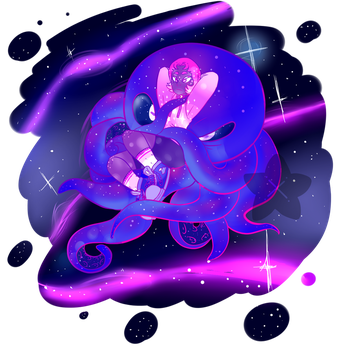 Space octo by kitty-bf