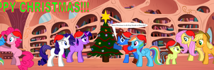 The Mane Six's Christmas Party by LGee14