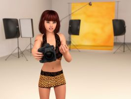 Milani: I'm Ready For My Shoot - Are You? (Scn 2) by Foxy-3D
