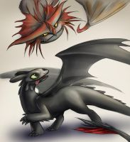 FA Toothless and Cloudjumper by nutJT