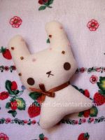White choco bunny plushie by VioletLunchell