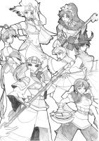 Dynasty Warriors Ladies BnW2 by chibigingi