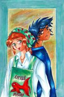 Ikki and little fishy by PerseoeAndromeda