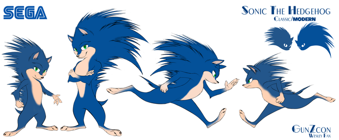 Sonic the Hedgehog Restyle sheet by GunZcon