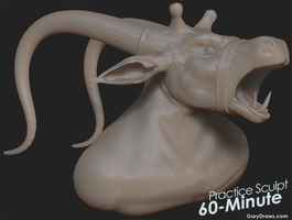 Mad Minotaur - 60-Minute Practice Sculpt by GaryStorkamp