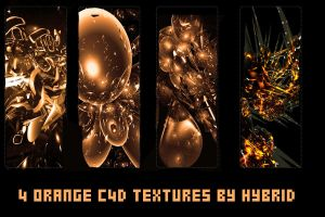 Orange C4D Textures Pack by MegaBleachy