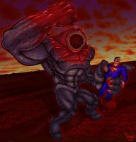 Superman vs. Hellmouth - 2008 by Killerbee-Kreations
