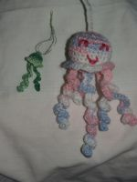Two new Amigurumi's.. Jelly Fish style by LilWolfStudios