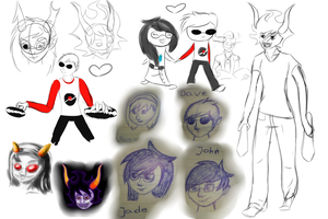 Homestuck sketchdump by Dreamy-Child