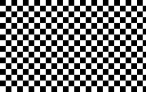 Black and White Checkered Background by G123u